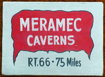"MERAMEC CAVERNS - RT 66 - Missouri - Size: 12"" x 16"""