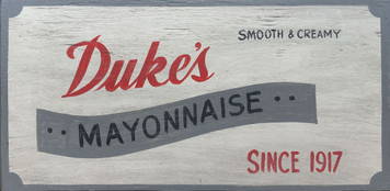 DUKES MAYONNAISE SIGN