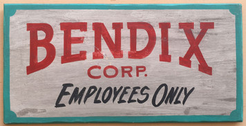 BENDIX CORP - Sign - Mishawaka - South Bend Ind