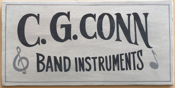 C G CONN Musical Instrument Sign - Elkhart Indiana