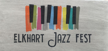 ELKHART JAZZ FESTIVAL Sign - Band Music Instruments Capital