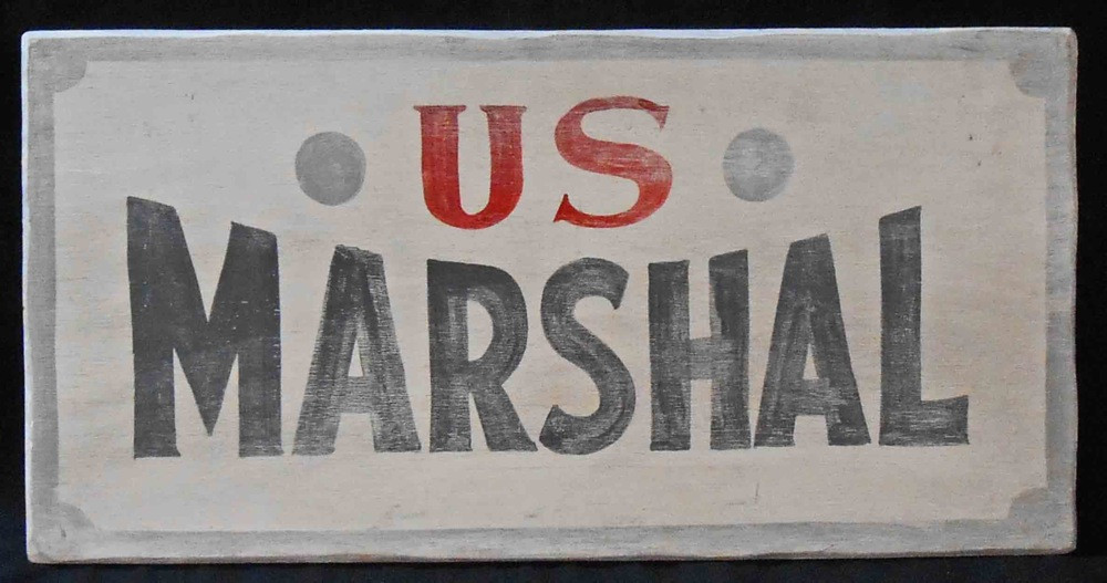 Old West Us Marshal Lawman Sign By George Borum