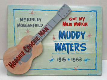 Muddy Waters Guitar Wall Plaque