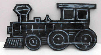 Wood Train Cut-Out by John Taylor