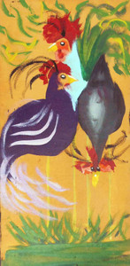 Exotic Guineas - Paint on Canvas by Madison Latimer
