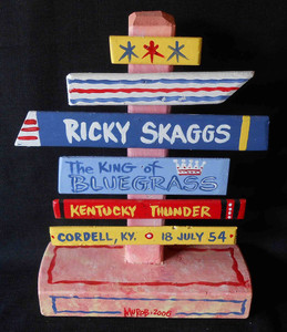 Ricky Scaggs - Kentucky Bluegrass Star Signpost by George Borum