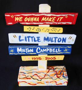 Little Milton Blues Man Signpost by George Borum