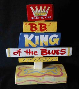 B B King Signpost by George Borum