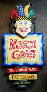 New Orleans Mardi Gras Jester -  Wall Plaque by George Borum