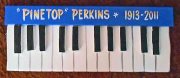 Pinetop Perkins Piano Plaque by George Borum