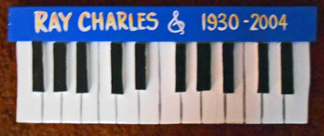 Ray Charles Piano Plaque by George Borum