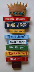 Michael Jackson - King of Pop - Wall Hanging - by George Borum