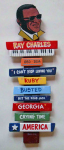 Ray Charles Wall Plaque by George Borum Ray122