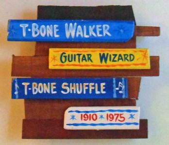 T-Bone Walker Wall Plaque by George Borum