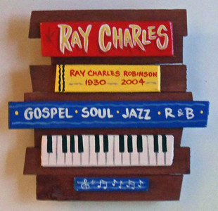 Ray Charles Wall Plaque by George Borum