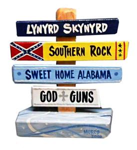 Lynyrd Skynyrd Sweet Home Alabama Signpost by George Borum