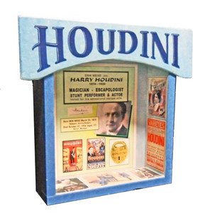 Harry Houdini Shadow Box by George Borum