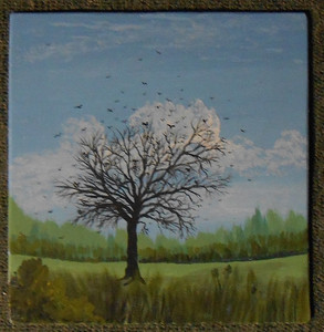 Dead Tree with Blackbirds by George Borum