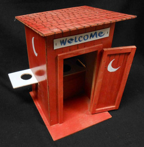Unique Family Outhouse Model by Geo G Borum