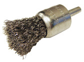 """1"""" dia x 1/4"""" Shank x .008"""" Crimped Wire End Brush Stainless Steel"""