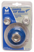 """2-3/4"""" dia x 5/8""""-11 x .020"""" Crimped Wire Cup Brush Stainless Steel"""