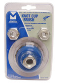 """2-3/4"""" dia x 5/8""""-11 x .020"""" Knotted Wire Cup Brush Stainless Steel"""