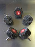 """2"""" x 1"""" x 120 Grit Flapper Wheel w/1/4"""" Round Shank (5 Pack)"""