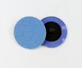 "2"" x 60 Grit Roloc Sanding Disc Blue Zirc"
