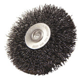 """3"""" dia x 1/4"""" Shank x .014"""" Crimped Wire Wheel Carbon Steel"""