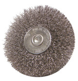 """3"""" dia x 1/4"""" Shank x .008"""" Crimped Wire Wheel Non-Mag Stainless Steel"""