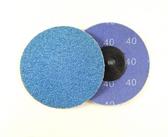 "3"" x 24 Grit Roloc Sanding Disc Blue Zirc"