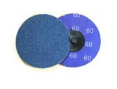 "3"" x 60 Grit Roloc Sanding Disc Blue Zirc"