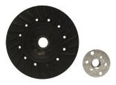 "5"" x 5/8""-11 Rubber Turbo Resin Fiber Disc Backing Pad"