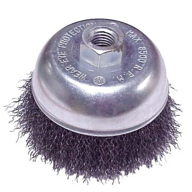 Crimped Wire Cup Brush | 5 Dia X 5 8 11 X 020 Crimped Wire Cup Brush Mild Steel