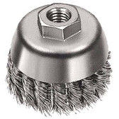 """5"""" dia x 5/8""""-11 x .020"""" Knotted Wire Cup Brush Mild Steel"""