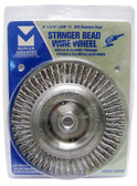 "6"" dia x 3/16"" x 5/8""-11 x .020"" Stringer Bead Wire Wheel Stainless Steel"