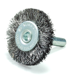 """1-1/2"""" dia x 1/4"""" Shank x .008"""" Crimped Wire Wheel Stainless Steel"""