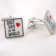 Cufflinks Best Dad in The World