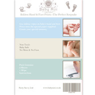 baby Blue inkless hand and foot print wipes