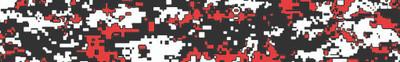 Digital Camo Red White Black