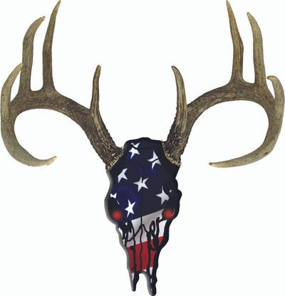 Deer Skull USA decal