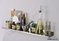 55 inches deep Over-the-range spice rack