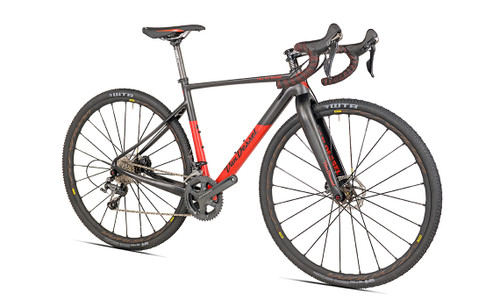 Van Dessel Full Tilt Boogie Disc Shimano STI equipped Carbon Bicycle, Red / Black - Build It Your Way
