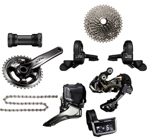 Shimano XTR 9050 Di2 Groupset with M9020 Chainrings | Trail (less brake levers & calipers)