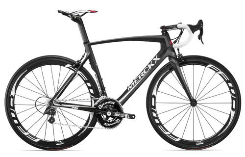 Eddy Merckx Mourenx 69 Shimano STI equipped Carbon Bicycle, Grey, Red & Silver Accents - Build It Your Way - Build It Your Way