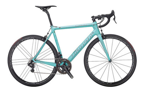 Bianchi Specialissima SRAM 22 equipped Carbon Bicycle, Gloss Celeste Green - Build It Your Way