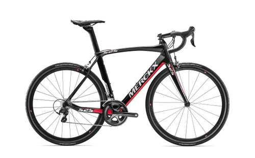 Eddy Merckx 525 Endurance Campagnolo EPS equipped Carbon Bicycle, Black Anthracite & Red Gloss Accents - Build It Your Way