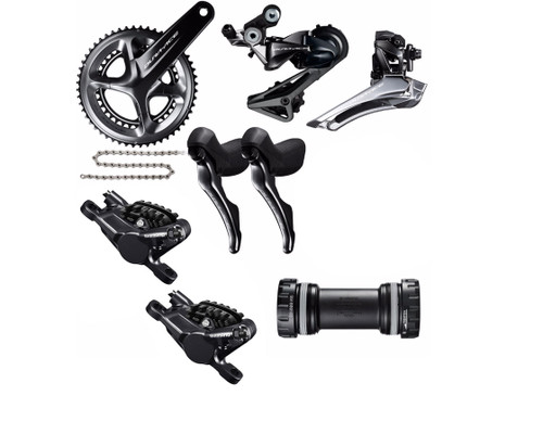 Shimano Dura-Ace  R9100 | ST-RS685 Hydraulic STI Groupset (less cassette)