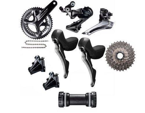 Shimano Dura-Ace  R9120 Hydraulic Flat Mount STI Groupset | Black Friday Countdown Deal