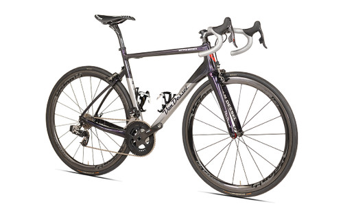 Van Dessel Full Tilt Boogie Disc Campagnolo Ergo equipped Carbon Bicycle, Silver / Black / Purple - Build It Your Way